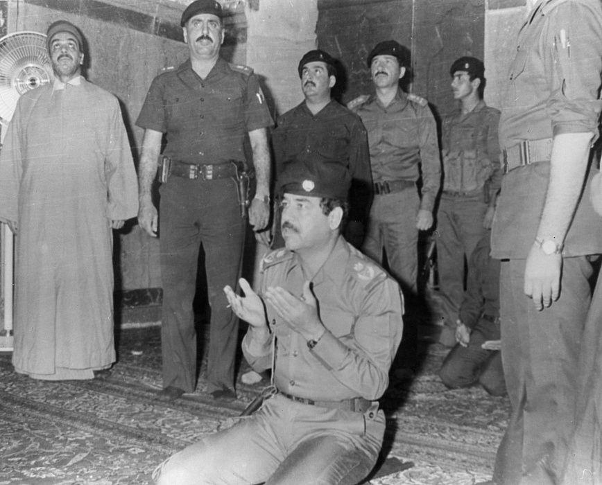 صلاة صدام حسين ، كربلاء ، ال...